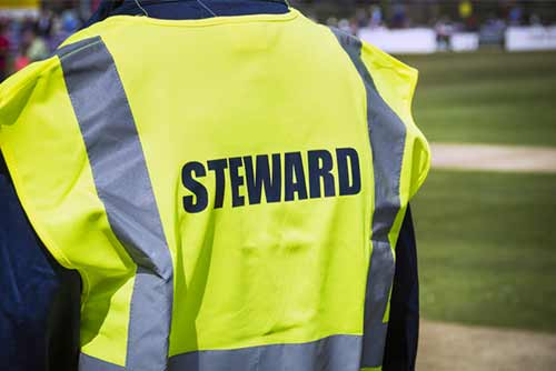 Protective workwear and equipment checklist for event stewards